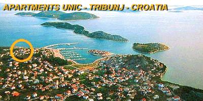 Holidays in apartments and private accommodation in Tribunj - Vodice - Croatia